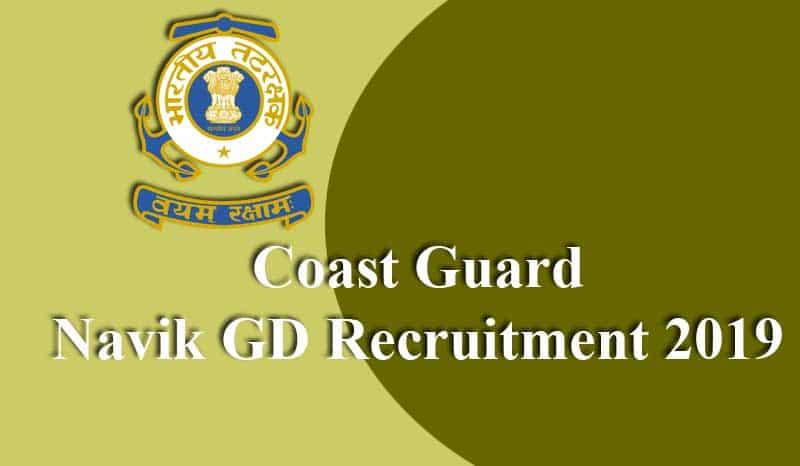 Coast Guard Navik GD Recruitment