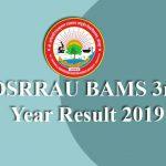 DSRRAU BAMS 3rd Year Result 2019