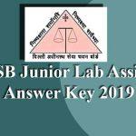 DSSSB Junior Lab Assistant Answer Key 2019