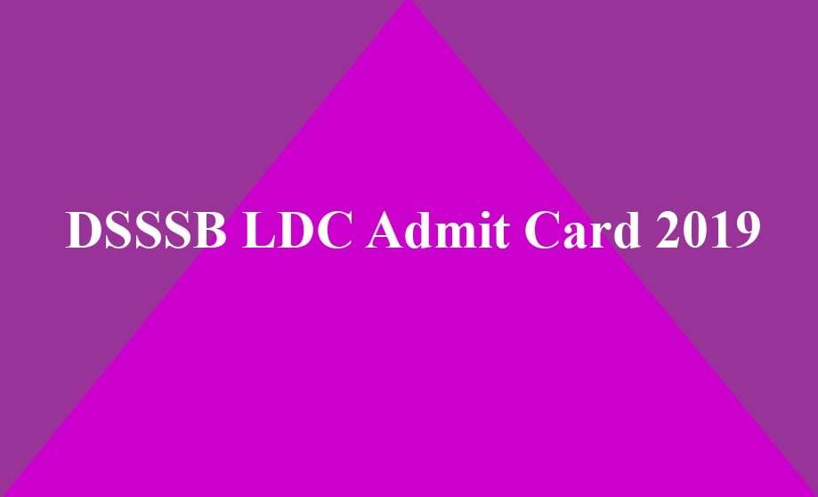 DSSSB LDC Admit Card