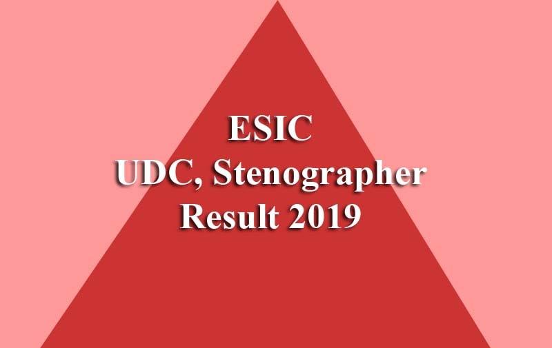 ESIC UDC Result