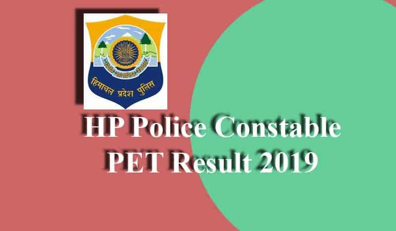 HP Police Constable PET Result