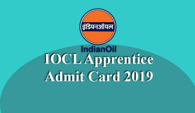 IOCL Apprentice Admit Card
