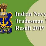 Indian Navy Tradesman Result 2019