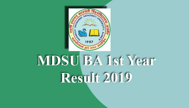 MDSU BA 1st Year Result