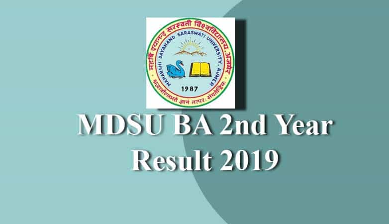 MDSU BA 2nd Year Result