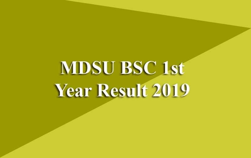 MDSU BSC 1st Year Result