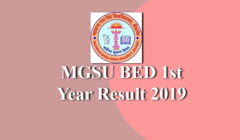 MGSU BED 1st Year Result
