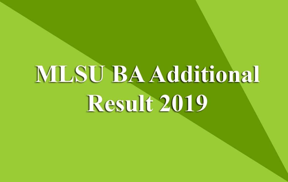 MLSU BA Additional Result