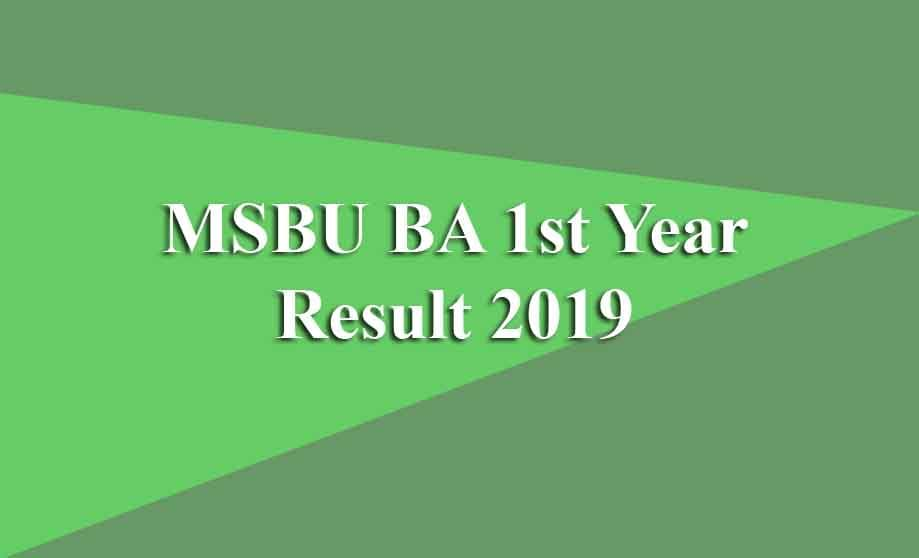 MSBU 1st Year Result