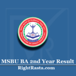 MSBU BA 2nd Year Result 2020 (Out) | Download Brij University B.A. Part 2 Results