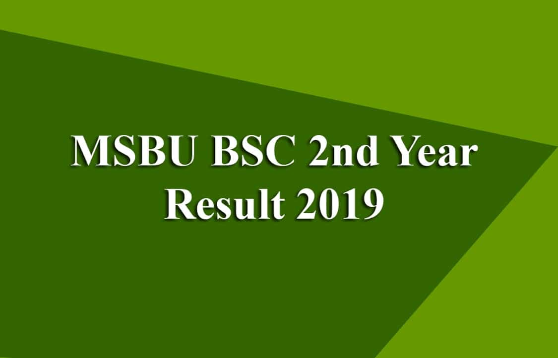 MSBU BSC 2nd Year Result 2019