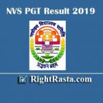 NVS PGT Result 2019 | Download 2nd Selected List