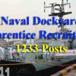 Naval Dockyard Apprentice Recruitment 2019