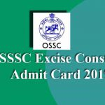 OSSSC Excise Constable Admit Card 2019