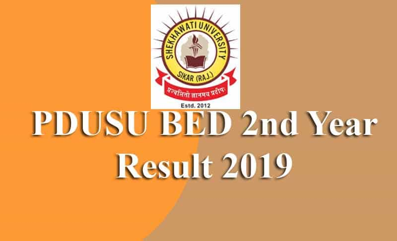 PDUSU BED 2nd Year Result