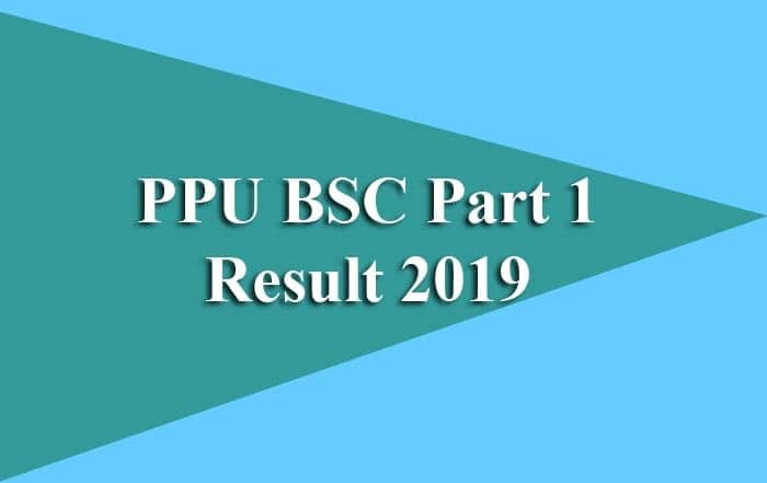 PPU BSC Part 1 Result