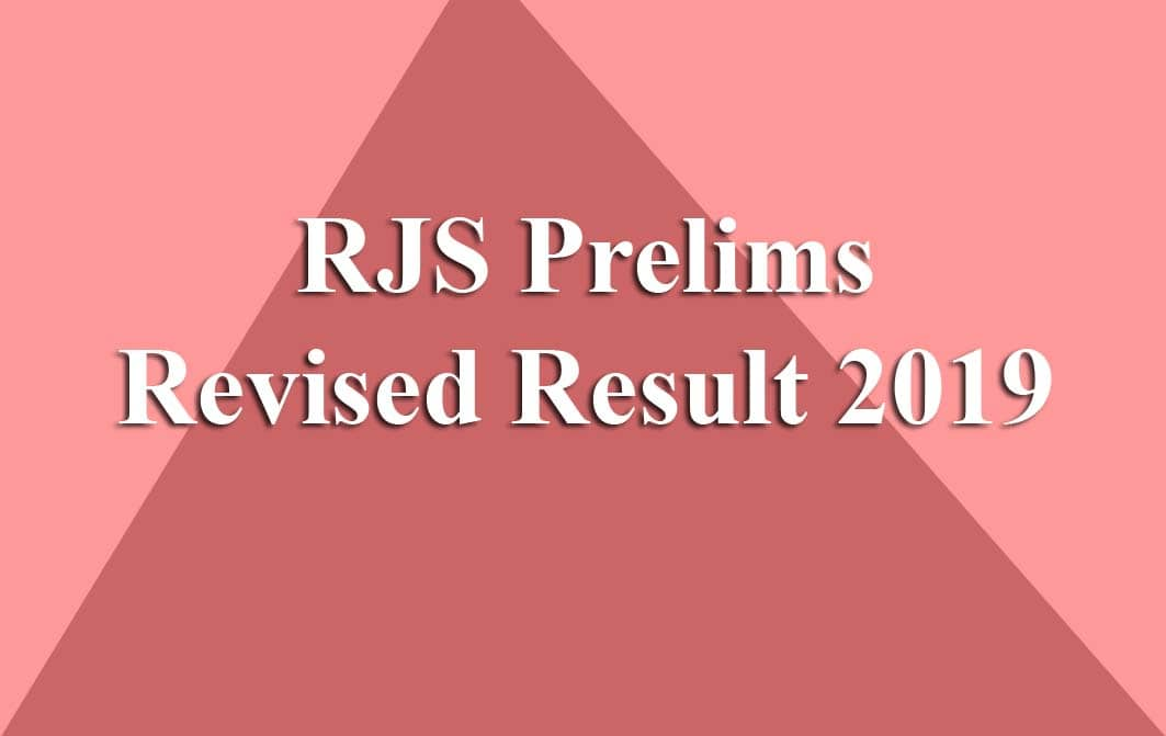 RJS Prelims Revised Result