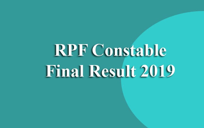 RPF Constable Final Result