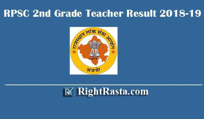 RPSC 2nd Grade Teacher Result 2018-19