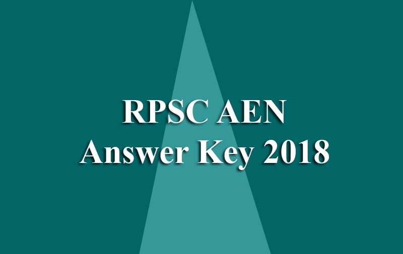 RPSC AEN Answer Key