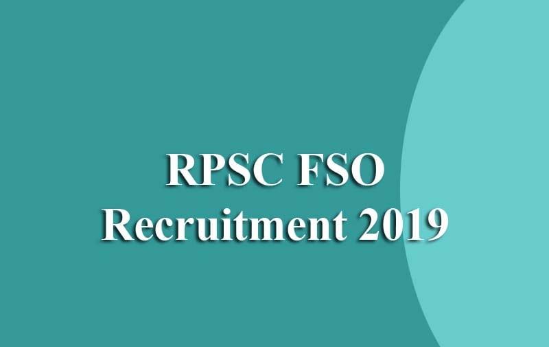 RPSC FSO Recruitment