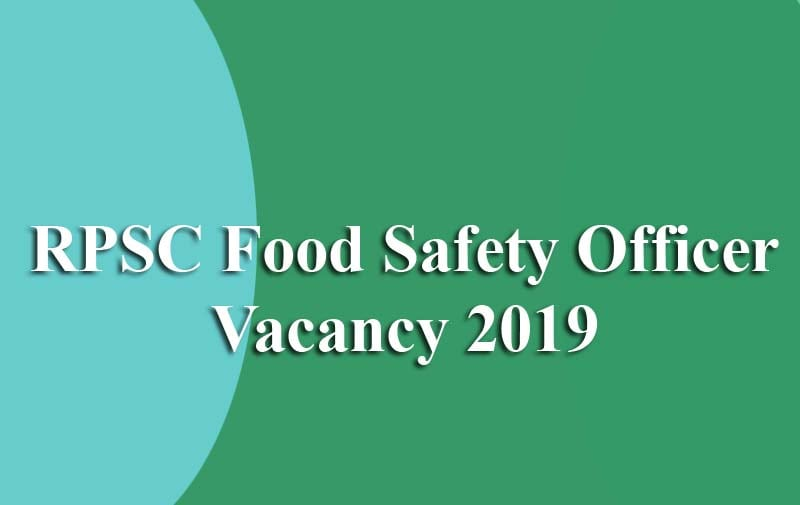 RPSC Food Safety Officer Recruitment