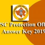 RPSC Protection Officer Answer Key 2019