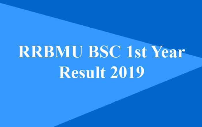 RRBMU BSC 1st Year Result