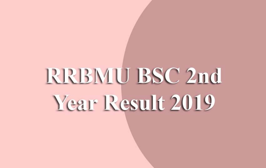 RRBMU BSC 2nd Year Result