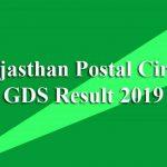 Rajasthan Postal Circle GDS Result 2019