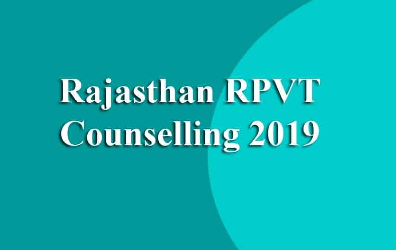 Rajasthan RPVT Counselling