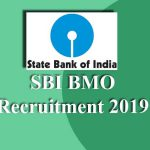 SBI BMO Recruitment 2019