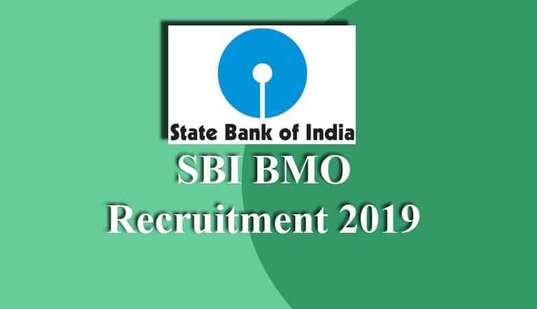 SBI BMO Recruitment