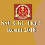 SSC CGL Tier 1 2018 Result with Marks