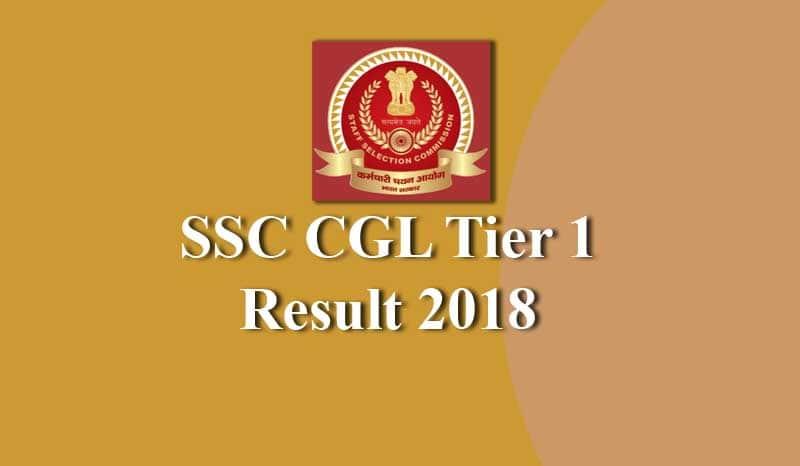 SSC CGL Tier 1 2018 Result