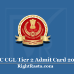 SSC CGL Tier 2 Admit Card 2019 (Out)   Download Paper II Hall Ticket