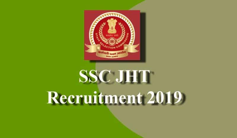 SSC JHT Recruitment