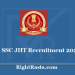 SSC JHT Recruitment 2020 - Apply Online Form for Junior Hindi Translator Vacancy
