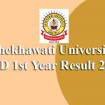 Shekhawati University BED 1st Year Result 2019