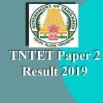 TNTET Paper 2 Result 2019