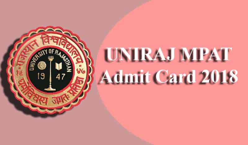 UNIRAJ MPAT Admit Card