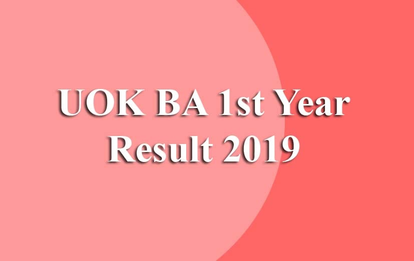 UOK BA 1st Year Result