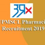 UPMSCL Pharmacist Recruitment 2019
