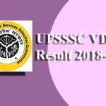 UPSSSC VDO Result 2018-19
