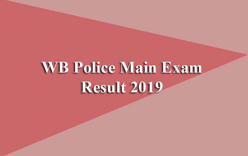 WB Police Main Exam Result