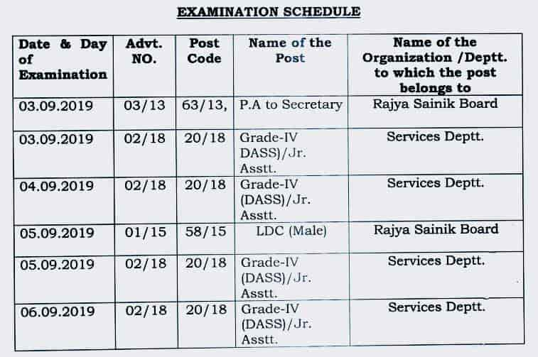 dsssb junior assistant exam date