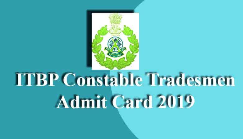 itbp tradesman admit card