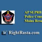 APSLPRB Police Constable Mains Result 2019