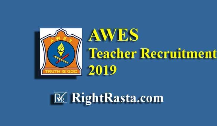AWES Teacher Recruitment 2019